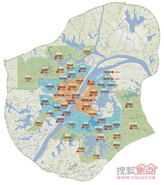 一张图看懂武汉房价 汉口汉阳武昌买房不迷茫图片