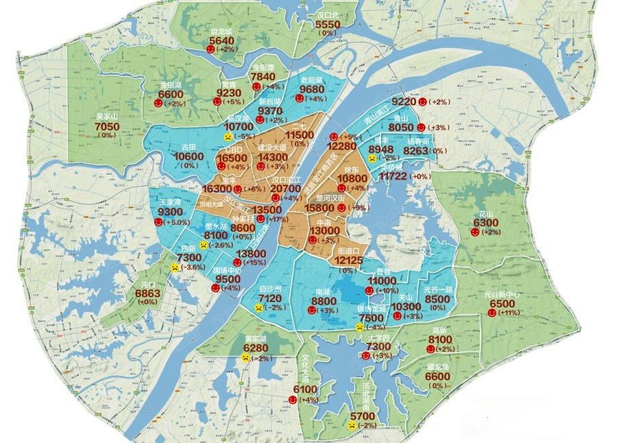 武汉:以长江为主,各大商圈分布为辅,各大高校林立其间,感受人文与图片