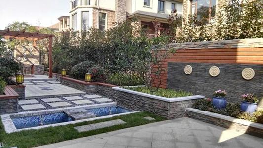 花园整体风格即有欧式的现代简约,又结合中式的雅致内敛,移步异景,妙图片