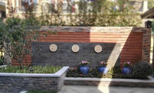 欧式花园景墙实景图