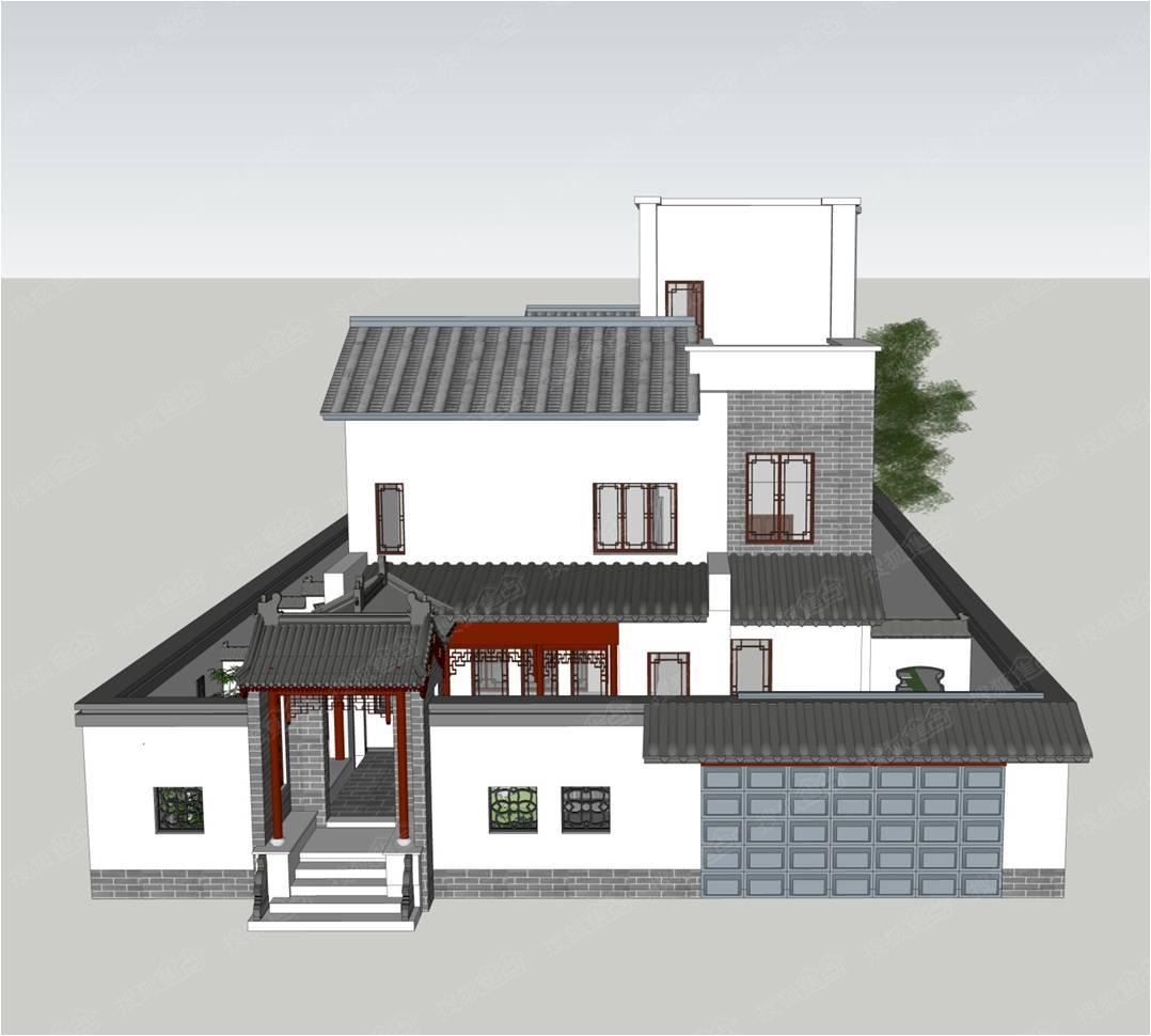 中国院子,栖园设计方案展示