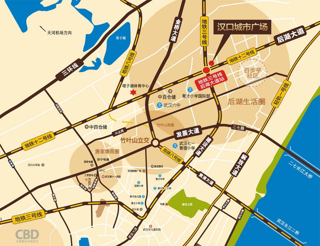 汉口城市广场交通图图片