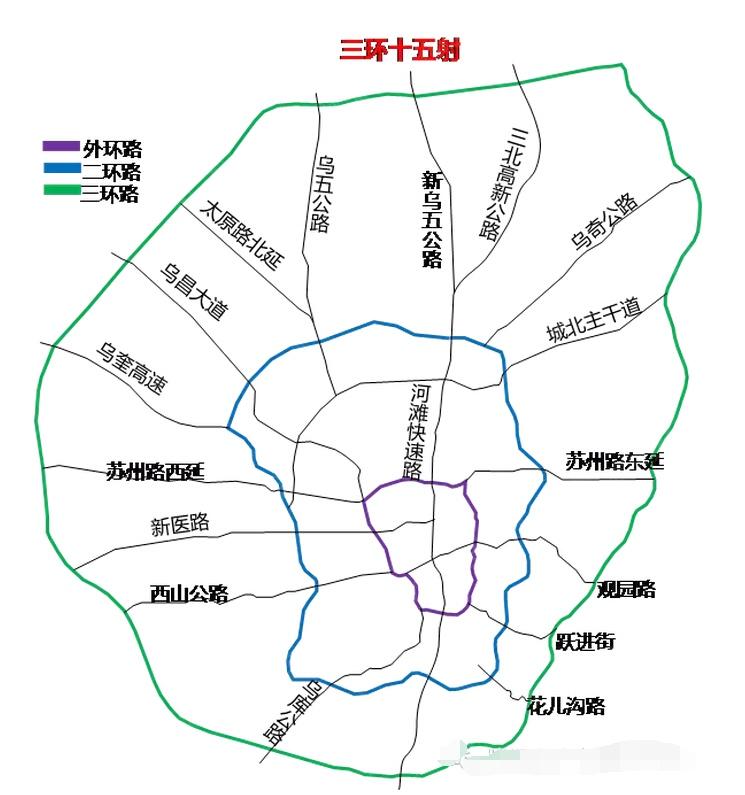 乌鲁木齐市(2014-2020)城市环线