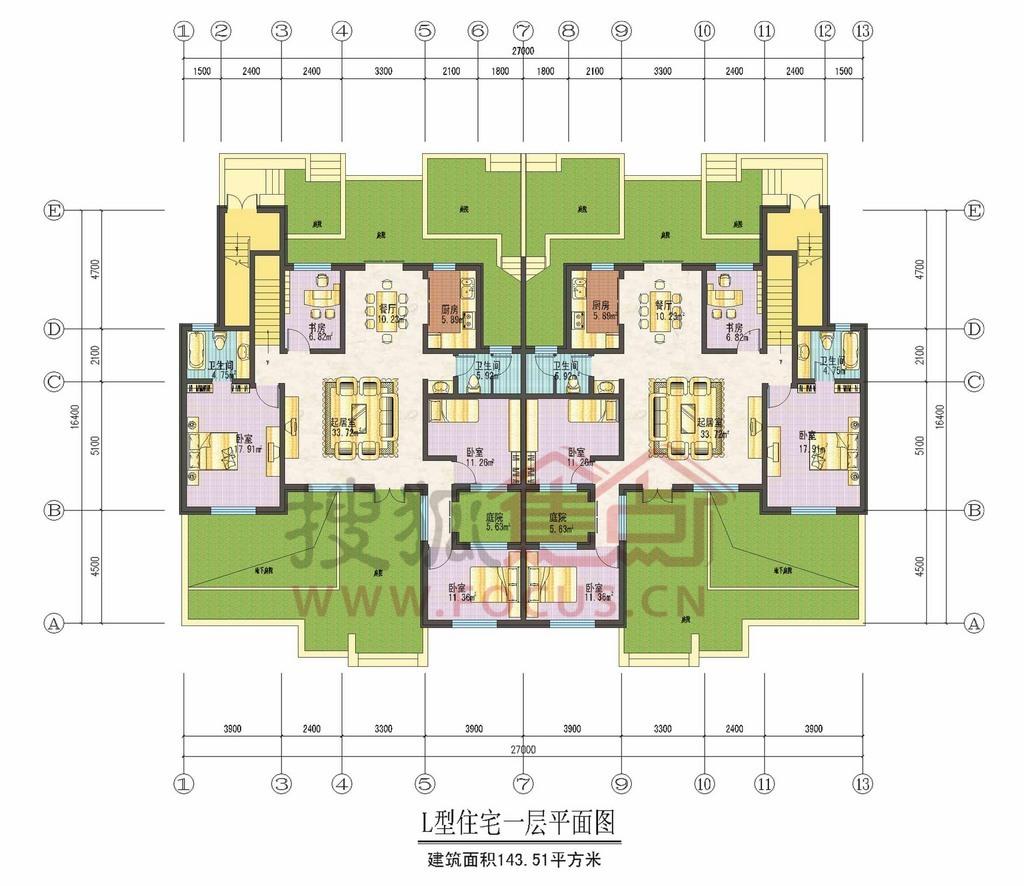 姐姐肛交囹?a?l#?+_紫美雅和 l型住宅一层平面图-0室0厅0卫-143m