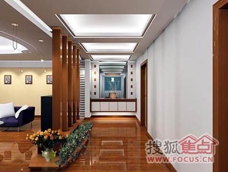 房子客厅装修设计图,走廊正对着镜子,让家居客厅双倍放大.