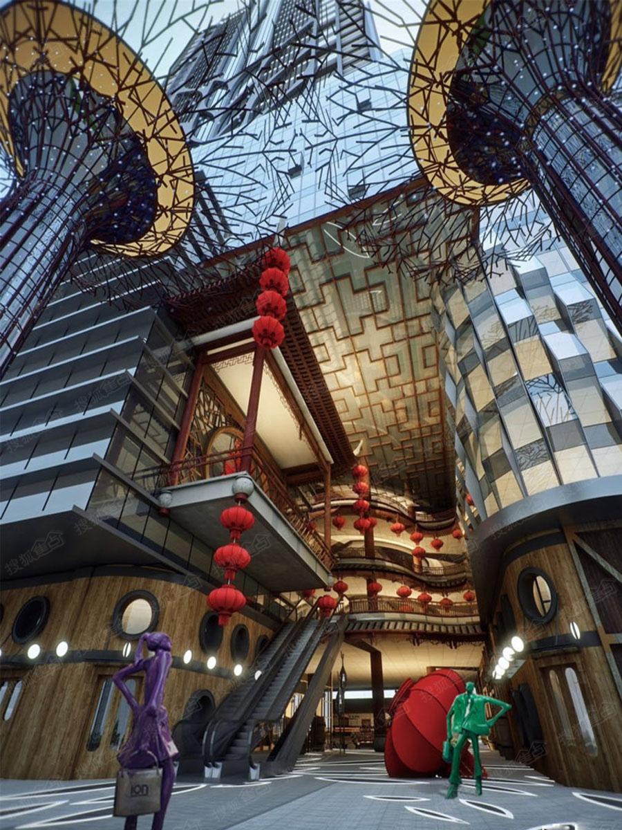 香槟街·铂悦府商业街区效果图