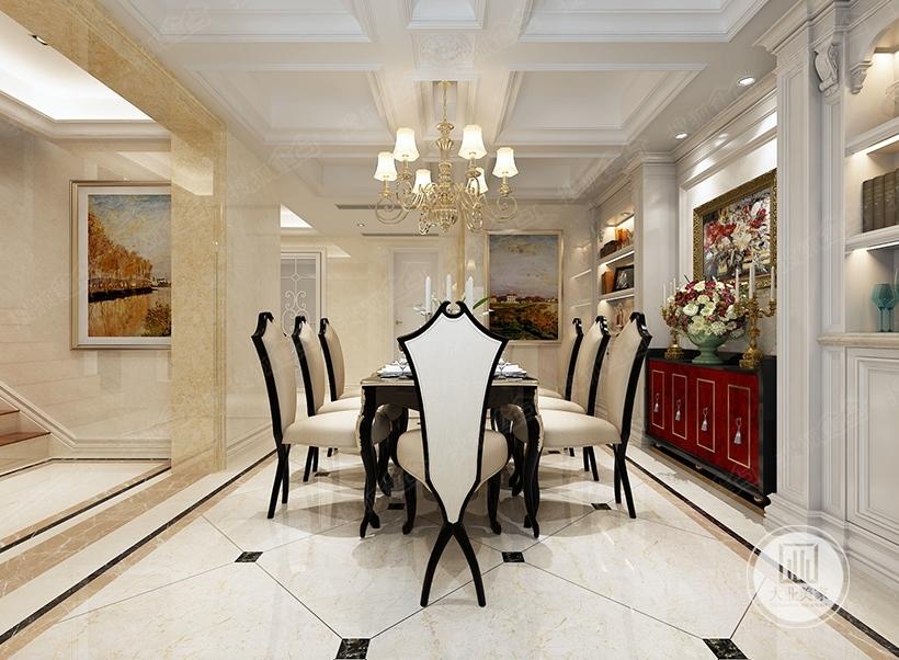 无锡别墅装修-马桶庄园350平欧式新古典装修效果图华府上下层别墅位置图片