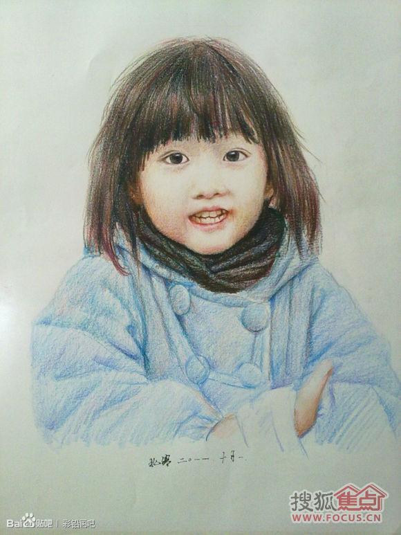 画的彩铅小女生