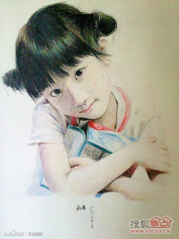 小清新彩铅手绘 唯美女生手绘_发型设计