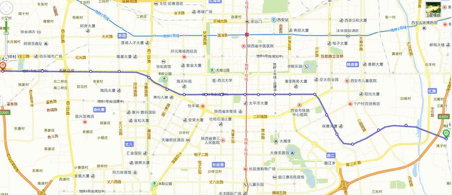 西安地铁5 6号线线路图及最新消息 西安1 6号地铁线路进展图片