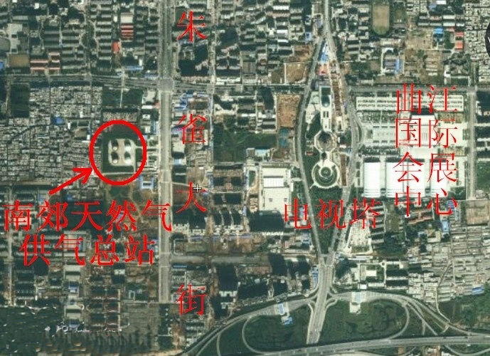 专家说:西安南郊的四个天然气罐很安全.