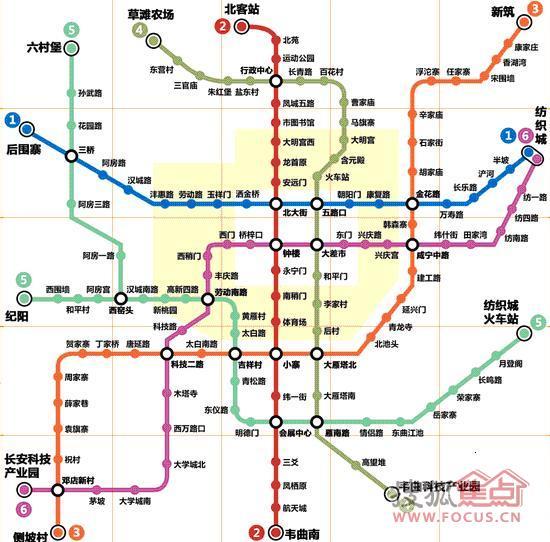 西安地铁规划图
