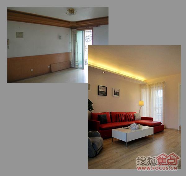 图 太白新苑二居室旧房改造装修前后对比效果图 高清图片
