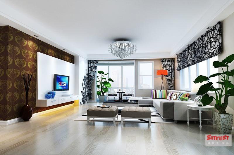 小两口的炫丽新房——22.3万打造金地湖城大境186平炫丽简 ...