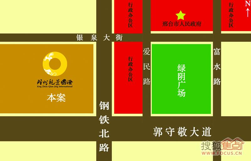 邢州乾景国际交通图   地处龙岗新区,毗邻市政广场,是城市高清图片