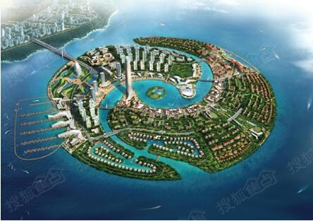 中国厦门湾双鱼岛