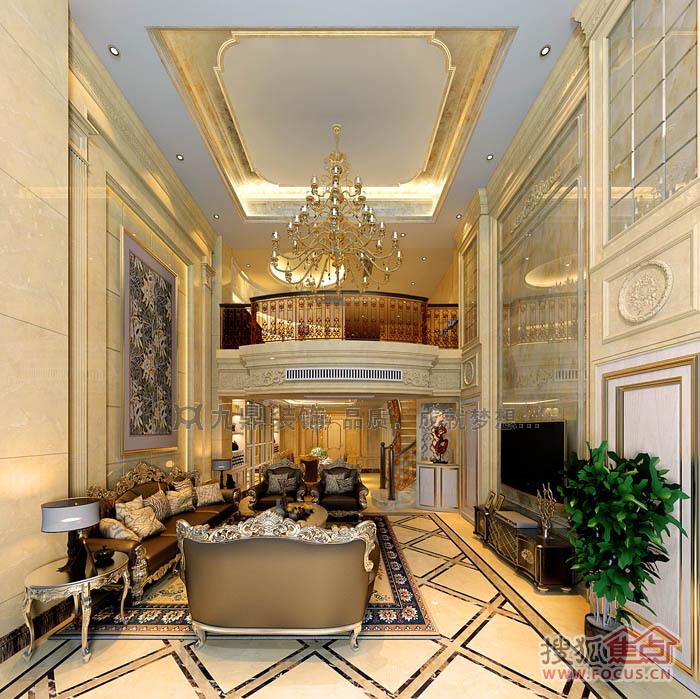 欧式奢华风格楼中楼装修——厦门九鼎装饰创意总监张图片