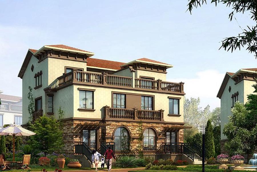 鲍涵 拉斐尔庄园联排别墅建筑面积为210平米左右,双拼别墅建筑面积为
