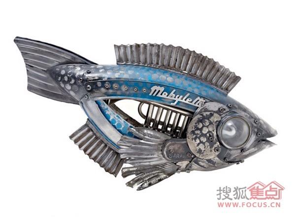 图:【创意无限】废金属打造动物机械王国