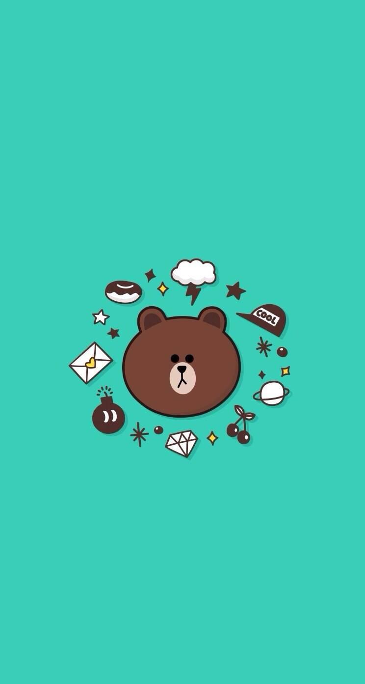 line布朗熊壁纸-3布朗熊壁纸 布朗熊和可妮兔壁纸图片
