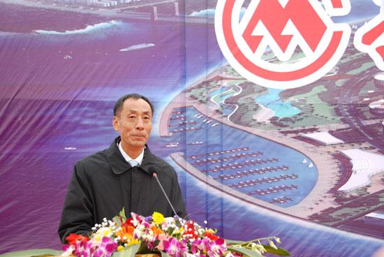 秦董宣布人工岛项目正式开工