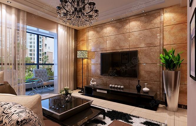 昌建誉峰89平方两室两厅一卫装修效果图高清图片