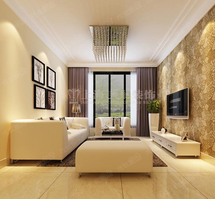 上东城103平三室两厅一厨一卫现代简约装修案例高清图片