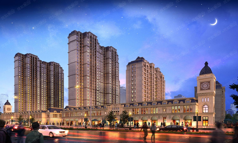 锦艺四季城沿街商业效果图高清图片