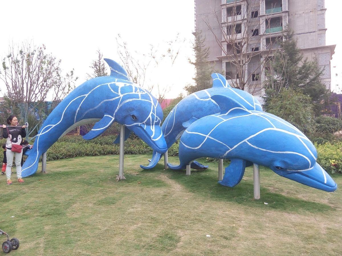 恒大御景湾实景图-雕塑海豚