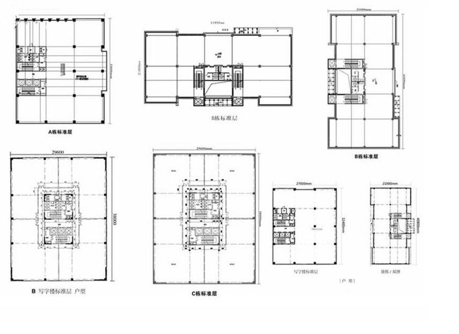 聚方科技园整体楼层平面图